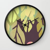 jungle Wall Clocks featuring Jungle by VessDSign