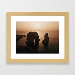 Raouche Rocks, Lebanon Framed Art Print