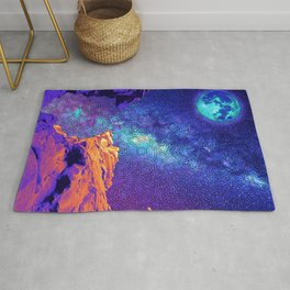 Psychedelic Stone Galaxyscape Rug