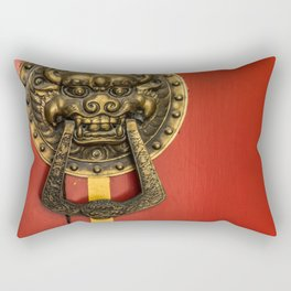 Chinese Lion Rectangular Pillow