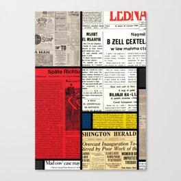 Mondrian's News Canvas Print