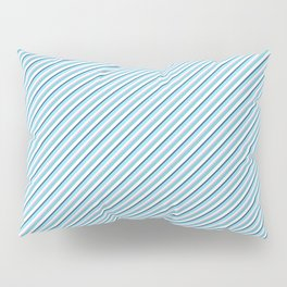 Sky Blue Strong Inclined Stripes Pillow Sham