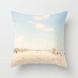 The Beach... Throw Pillow