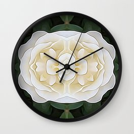 White Flower of Balance Wall Clock