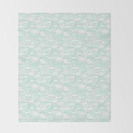Delightful Domes - Mint Throw Blanket