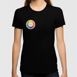 Vintage Color Wheel - Art Teaching Tool - Rainbow Mood Chart T-shirt