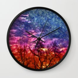 ablaze Wall Clock