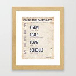 Art Biz Strategy V1 Framed Art Print