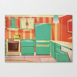 Kitschy Kitchens Watercolor Series Canvas Print