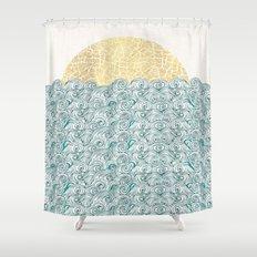 Sunny Tribal Seas Shower Curtain