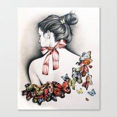 L'effet papillon Canvas Print