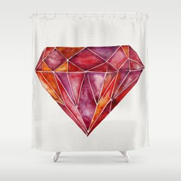 Million-Carat Ruby Shower Curtain