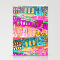 cityscape Stationery Cards featuring Cityscape by Aimee St Hill