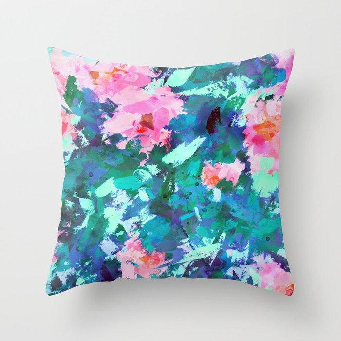 Blossomed Garden Throw Pillow