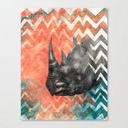 Rhino! My Captain! Canvas Print