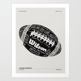WILSON FOOTBALL FACTORY TOUR Art Print