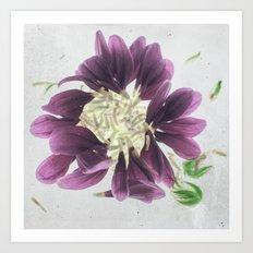 Purples Botanical Blueprints Art Print