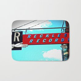 Reckless Records ~ chicago sign Bath Mat