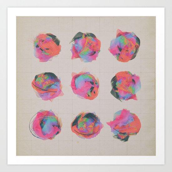 T.VARIATIONS (everyday 8.25.15) Art Print