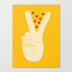 Peace-za Canvas Print