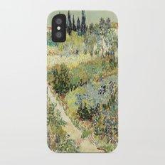 Vincent Van Gogh : Garden at Arles iPhone X Slim Case