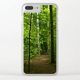 Path at Hemlock Crossing Clear iPhone Case