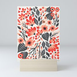 Mixed Florals – Coral Mini Art Print
