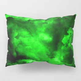 Envy - Abstract In Black And Neon Green Pillow Sham