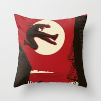 kitchen Throw Pillows featuring Hell's Kitchen by Danny Haas
