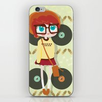 indie iPhone & iPod Skins featuring Indie Girl by Irene Dose