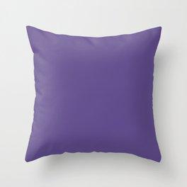 Modern Minimalist Design Solid Ultra Violet Throw Pillow