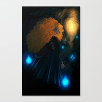 merida Canvas Prints featuring Merida by Azulity