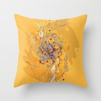 splatter Throw Pillows featuring Splatter by Anders Holm