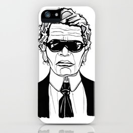 Uncle Karl Lagerfeld iPhone Case