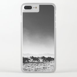 Wild Mustangs Clear iPhone Case