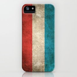 Old and Worn Distressed Vintage Flag of Luxembourg iPhone Case