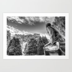 Scots American Memorial And Edinburgh Castle Art Print