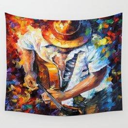 Music Love Guittar Wall Tapestry