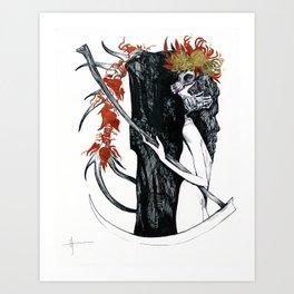 Death & their maiden Art Print