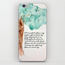Fall, Leaves, Fall iPhone Skin