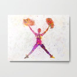 young woman cheerleader 02 Metal Print