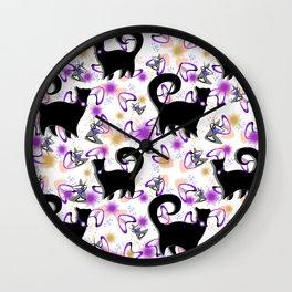 Retro Snobby Cats 3 Wall Clock