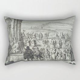 A.J. Defehrt - Cortège of Janus (1764) Rectangular Pillow