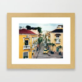 Colonial Architecture in Cartagena Framed Art Print