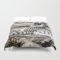 cheetah Duvet Covers featuring cheetah by Rebeca Anafe