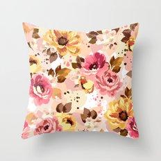 Pattern Flowers 01 Throw Pillow