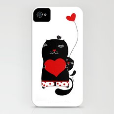 Cats with hearts iPhone (4, 4s) Slim Case