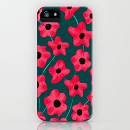 Poppies' field iPhone Case