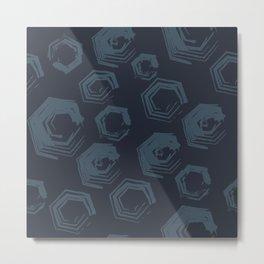 Open Polygons of Steel Metal Print