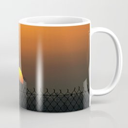 sunset fenced in Coffee Mug